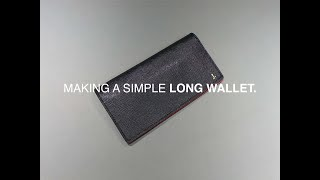 Making a simple long wallet.