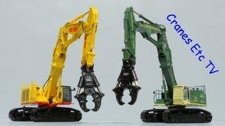 Video still for NZG Hitachi ZAXIS 1000K-3 + Okada Crusher Demolition Excavator by Cranes Etc TV