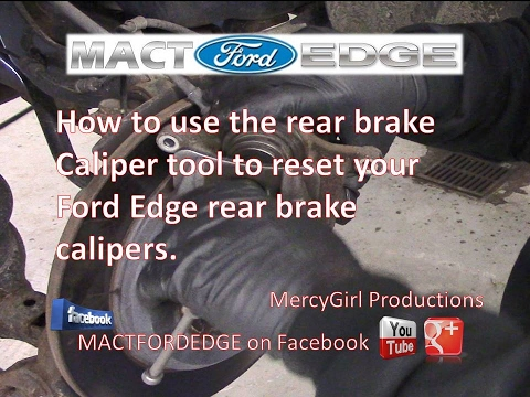 How To Use The Rear Brake Caliper Tool On Your Ford Edge