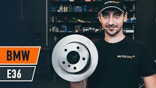 Peržiūrėkite vaizdo įrašo vadovą, kaip pakeisti BMW 3 (E36) Stabdžių diskas