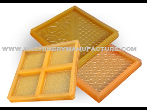 How To Make A Paver Block Rubber Mold To Cast Concrete Pavers