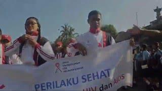 Peringatan Hari AIDS Sedunia di Tegallalang tahun 2015