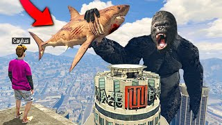 MEGALODON vs. KING KONG In GTA 5.. (MODS)
