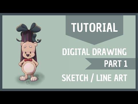 Digital painting tutorial part 1|| Autodesk Sketchbook