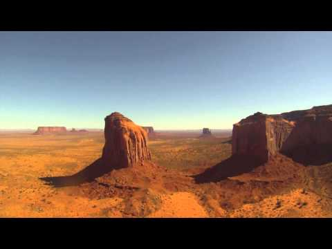 Flight through Monument Valley