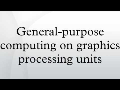General-purpose computing on graphics processing units