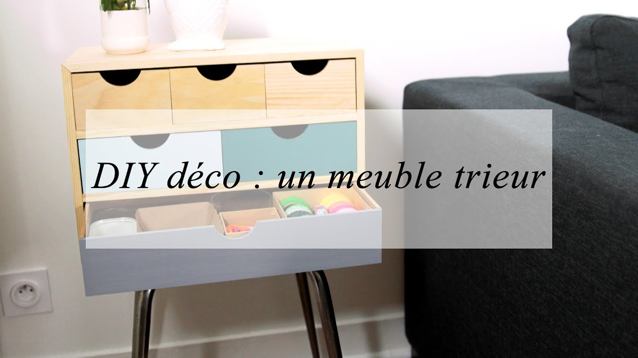 Diy d co un meuble de rangement customis youtube for Meuble de rangement