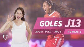 Todos los Goles Liga MX FEMENIL JORNADA 13 2018 - GOLAZO MONICA MONSIVAIS