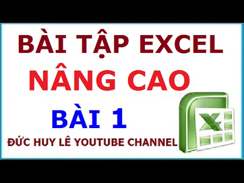 Kết hợp hàm Vlookup, Hlookup, Match, Index, Left, Value – BT Excel