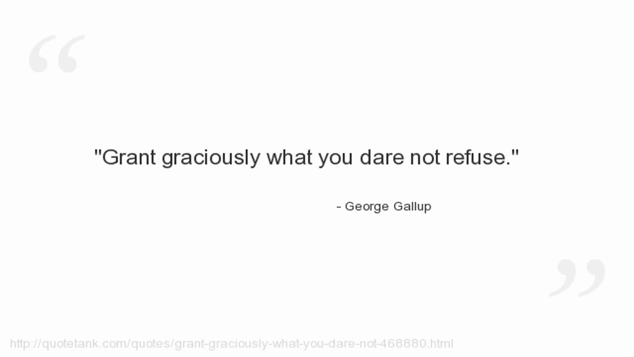 George Gallup Quotes Youtube