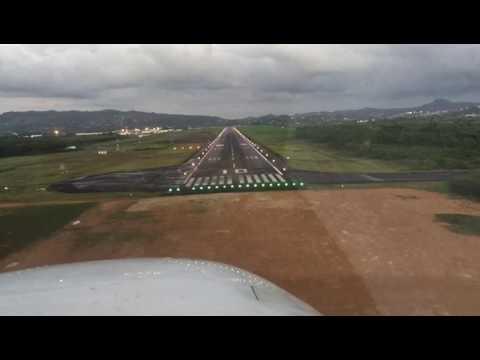 Landing TFFF/FDF Martinique Aimé Césaire Intl Airport RWY10 (Fort-de-France, Martinique)