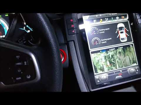 Part 2 Vertical screen Tesla-style Android navigation head unit for 2016 2017 Honda Civic DEMO VIDEO