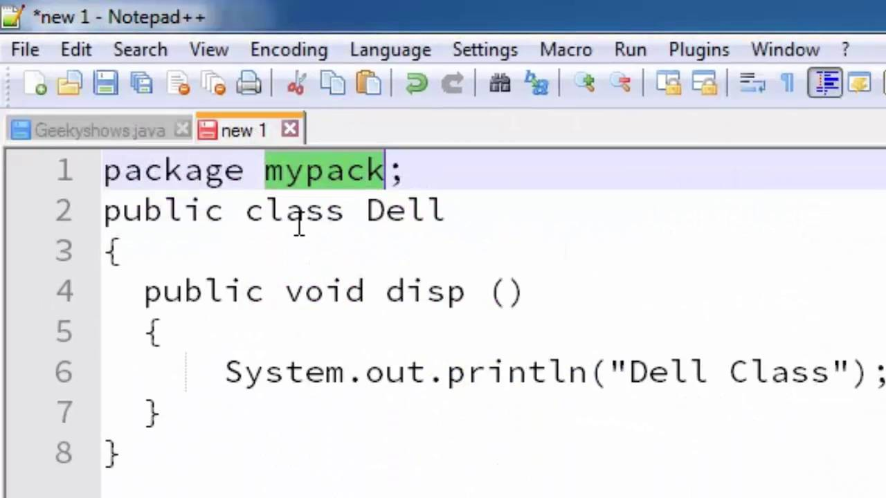 148. Create and Save Package for notepad user in Java Programming ...