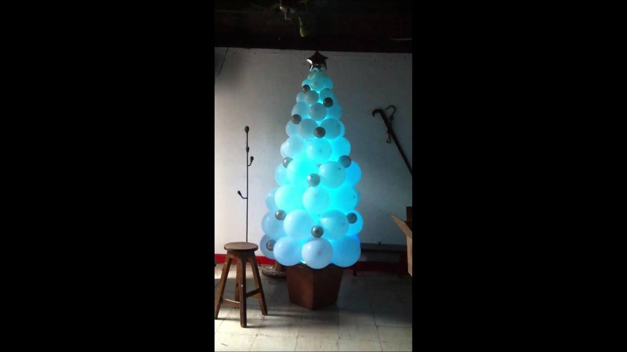 Arbol de navidad con globos youtube - Decoraciones del arbol de navidad ...
