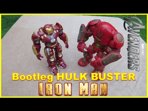 HULK BUSTER IRONMAN Age Of Ultron Bootleg - (Raw Toy Review Video)