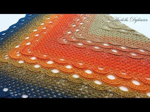 Треугольные платки крючком схемы