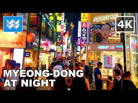 Walking around Myeong-dong (명동) at Night in Seoul, South Korea Travel Guide【4K】 🇰🇷