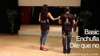 6 Salsa Cuban Basic Steps: Enchufla and dile que no