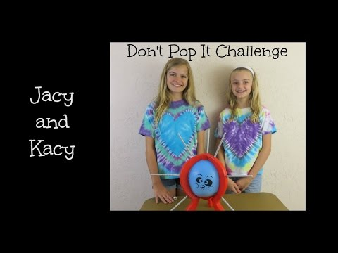 Don't Pop It Challenge with a Surprise ~ Jacy and Kacy