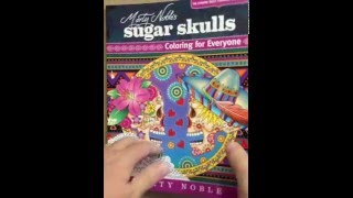 Marty Noble's Sugar Skulls: New York Times Bestselling Artists Adult Coloring Books flip through