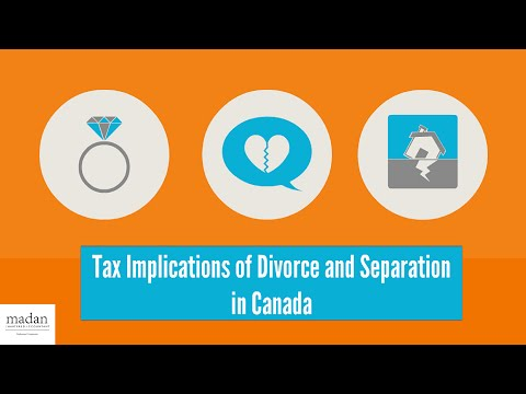 Tax Implications Of Divorce And Separation In Canada
