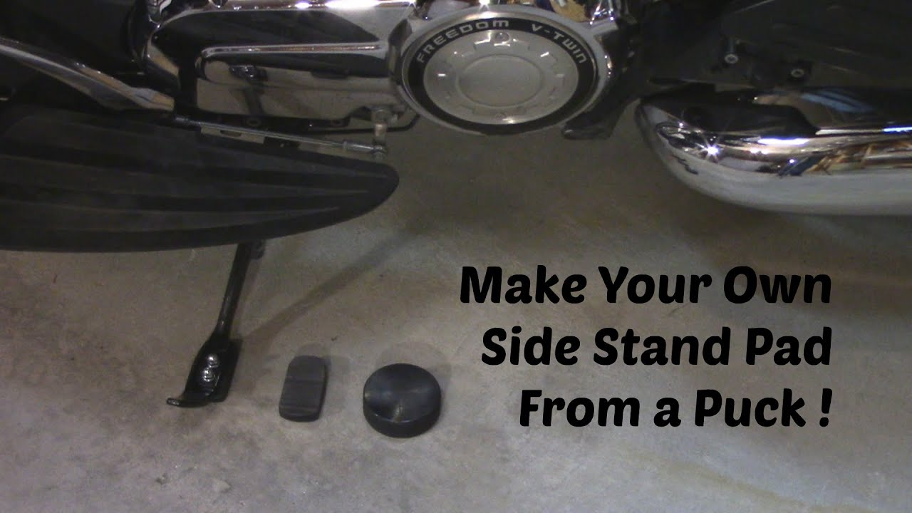 Motorcycle Kick Stand Pad Youtube