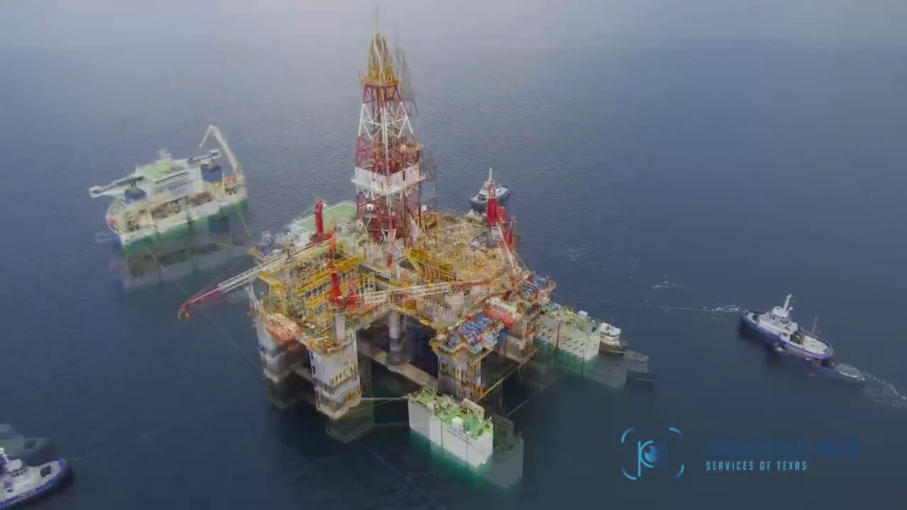 Professional Drone Services of Texas - Gulf of Mexico Rig Operations