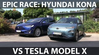 Race between Kona and Model X