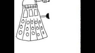 How to draw an Cartoon Dalek- Doctor Who!