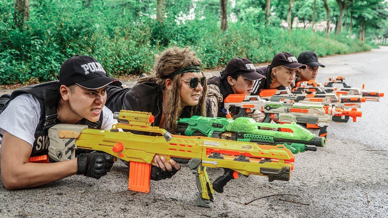 LTT Game Nerf War : Captain SEAL X Nerf Guns Fight Rocket Crazy Rescue The Mercenary Team