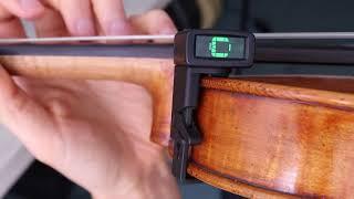 The D'addario NS Micro Violin Tuner - Tune Your Violin + Improve Intonation and Rhythm