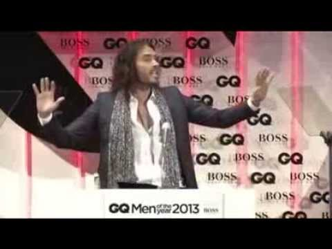 Russell Brand Rips on GQ Hugo Boss and Syria War