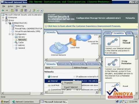 ISA Server 2006 Installation(By Yasir) And Configuration (By Kifayat Ullah) - Urdu