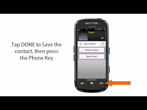 How to set up Press4 on your Samsung s30 Instinct