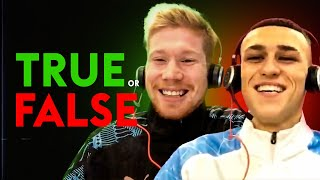 Guardiola said Foden is the best young player he's ever seen | TRUE or FALSE | De Bruyne & Foden