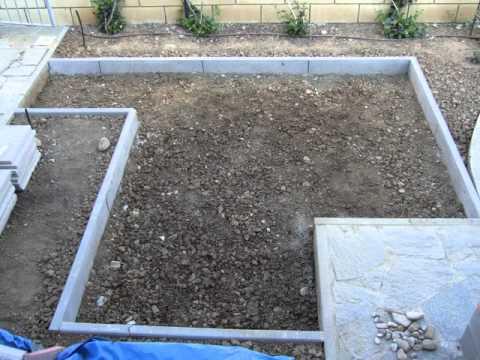 Pavimentazione giardino youtube for Bordi per aiuole fai da te