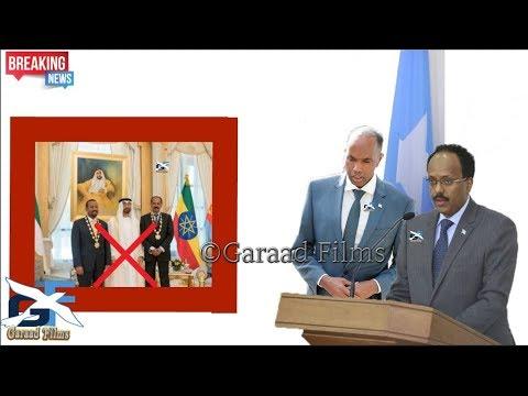 DEG DEG Somalia o so sartay eeden ka dhan ah Imaaradka iyo xulafadisa Cusub iyo Abiy axmad o xanaqay