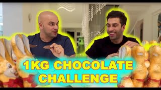 EATING 1KG OF CHOCOLATE CHALLENGE!!