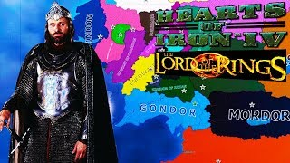 NEW LORD OF THE RINGS MOD Hearts of Iron 4 HOI4 Lord of the Rings Mod Gameplay