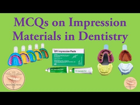 Dental Materials MCQs - Impression Materials