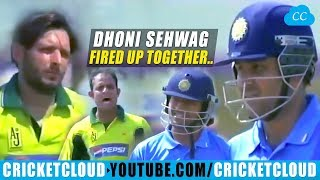 Sehwag & Ms Dhoni's Thunderstorm | Pakistan Sledging Made Worst | INDvPAK 2005 !!