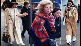 СТРИТ СТАЙЛ КАК УТЕПЛИЛИСЬ модницы Петербурга ПАЛЬТО ПУХОВИКИ ОБУВЬ АУТФИТЫ осень зима ЧТО НАДЕЛИ