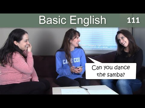 Lesson 111????? Basic English with Jennifer - CAN and COULD for Ability