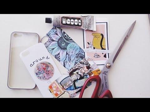 DIY: Custom Phone Case/Украшаем чехол для телефона