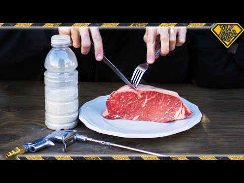 Sandblasting Steak With Salt