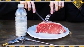 Sandblasting Steak with Salt