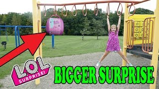 LOL Bigger Surprise Scavenger Hunt At The Playground! Worst Hiding Spot Ever!