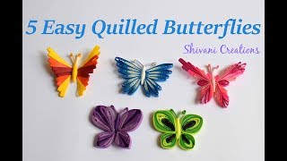 Learn how to make Paper Quilling Butterfly - Best Video Tutorials