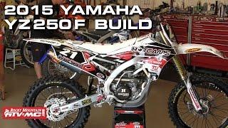 White Yamaha Motorcycle YZ 250 F Bike Build