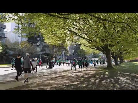 Vancouver WALK & EVENT: 2018 VANCOUVER SUN RUN 10K, Pt. 4 - K4-K5 (Beach Ave, Hornby, Pacific St)